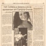Jornal A UNIÃO 10/05/02 - João Pessoa-PB - Apresentação em Campina Grande
