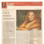 Diario de Pernambuco 21/10/09 - Lançamento CD Mulheres compositoras