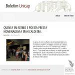 Boletim UNICAP - 23/05/2014 - Irah Caldeira é homenageada pelos alunos do Curso de Eventos