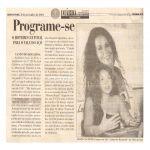 Diário do Rio Doce 08/11/01 - Governador Valadares-MG - Lançamento Canto do Rouxinol