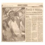 Jornal O Norte 18/01/03 - João Pessoa-PB - Poesia e Música