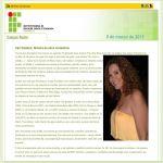 Campus Recife IFPE - 08/03/2013 - Homenagem Dia Internacional da Mulher com Irah Caldeira
