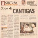 Diário da Borborema 11/05/2002 - Campina Grande-PB - Show de cantigas