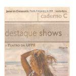 Jornal do Commercio 09/01/09 - Gravação DVD no Teatro da UFPE
