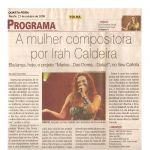 Folha de Pernambuco 21/10/09 - Lançamento projeto Marias... Das Dores.. DaLuz!
