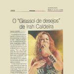 Folha de PE - 21/05/2009 - Lançamento DVD de Irah Caldeira