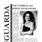 Jornal Vanguarda 05/12/98 - Irah nos palcos caruaruenses - Caruaru-PE