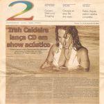 Jornal Vanguarda 02/12/06 - Irah lança CD Entre o calango e o baião - Caruaru-PE
