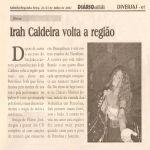 Diário da Região 21/07/07 - Irah em Petrolina-PE