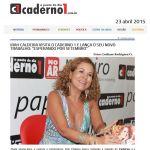 Caderno 1 Serra Talhada - 23/04/2015 - Irah Caldeira divulgando seu novo CD Esperando Setembro