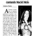 Diário da Região 28/06/05 - Irah Caldeira encanta região cantando Maciel Melo