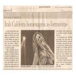 Jornal do Commercio 21/10/09 - Lançamento CD Mulheres compositoras no Seu Cafofa