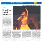 Diario de Pernambuco 03/12/2011 - Resgate da tradição nordestina