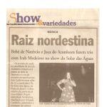 Jornal O Norte 12/03/05 - João Pessoa-PB - Raiz nordestina