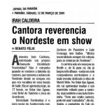Diário da Paraíba 12/03/05 - Cantora reverencia o Nordeste