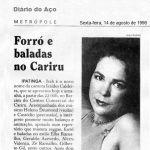 Diário do Aço 14/08/98 - Forró e Baladas no Cariri